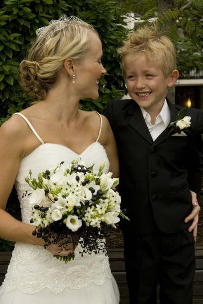 Bridal Bouquet black & white