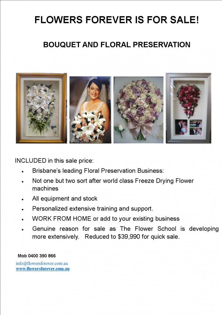 FLOWERS FOREVER FOR  SALE (take two)