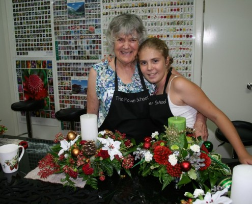 Hayley and Granny Christmas arr