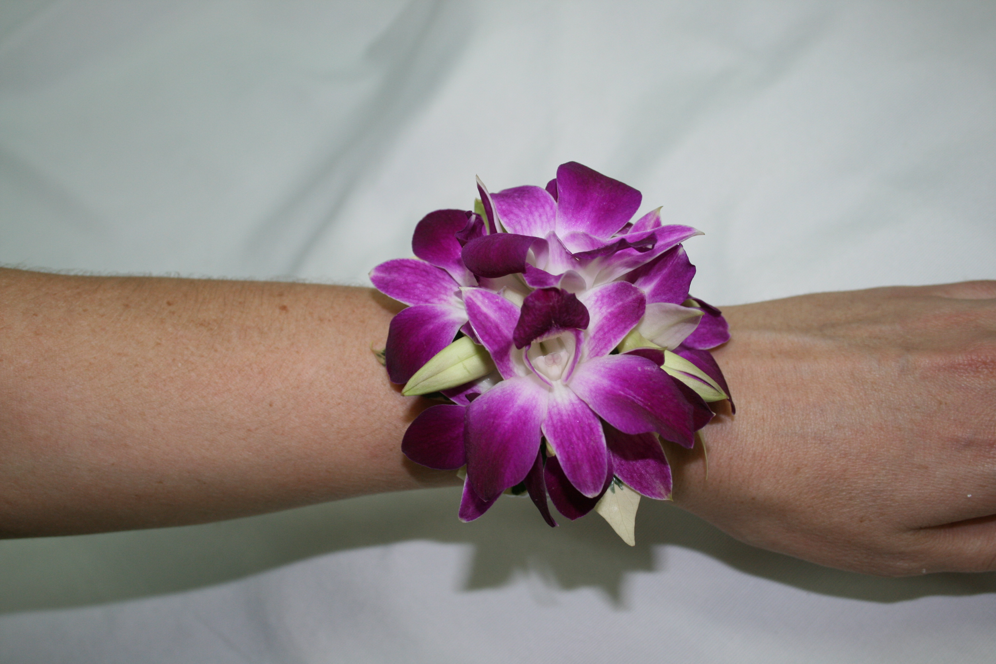 Kathryn Orchid wrist corsage
